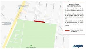 Alerta Ooapas por trabajos sobre la Avenida La Paz